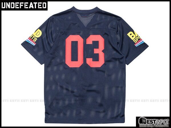 【EST】Undefeated Bad Jersey 球衣 短tee [Uf-5101] 黑/藍 Xs~L E1008 2