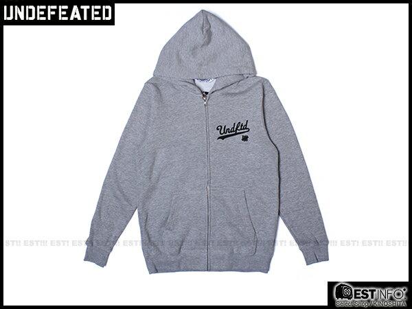 【EST】Undefeated Zip Hoodie 帽夾 外套 [UF-5139] 黑/綠/灰/藍 S~L E1008 0