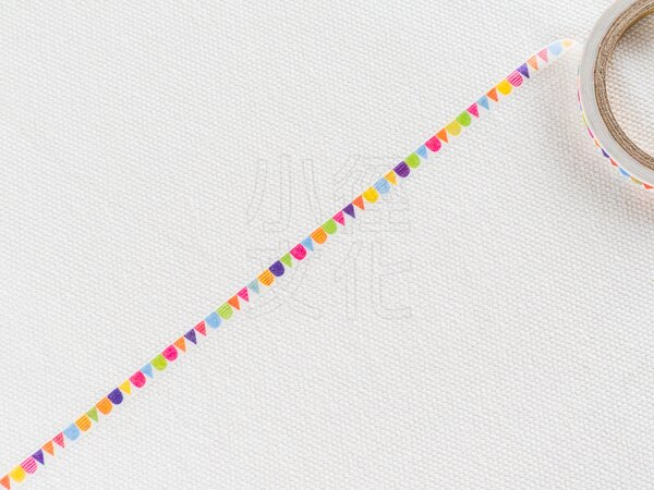 *小徑文化*日本進口和紙膠帶 Word carft系列 - 彩色旗幟 ( W02-MK-T0078 )