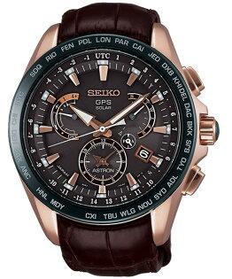 Seiko Astron 8X53-0AF0G(SSE060J)喬科維奇限量簽名太陽能GPS對時腕錶/咖啡面44.6mm