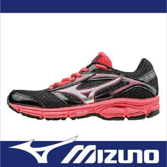 萬特戶外運動-MIZUNO美津濃 J1GD161303 WAVE IMPETUS 2 一般型女慢跑鞋 健走適用 黑/橘紅
