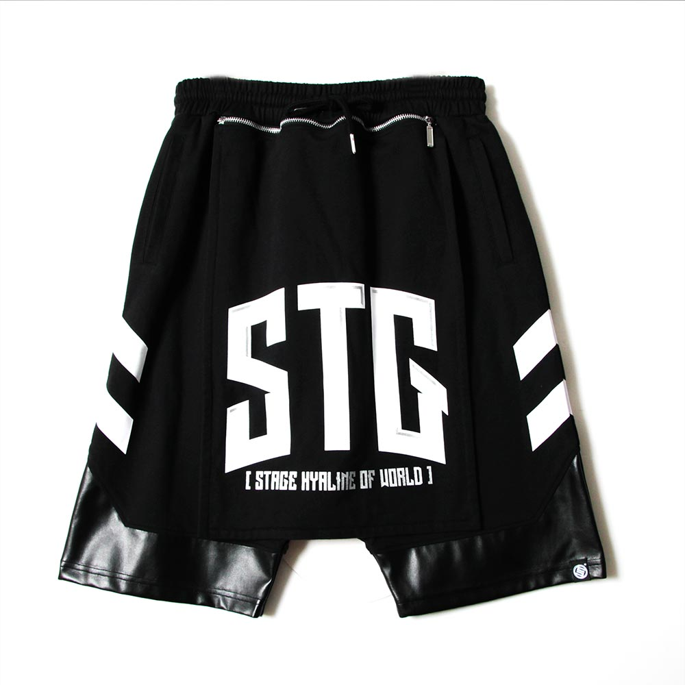 STAGE UNLIMITED BAGGY SHORTS 黑色 單色 4