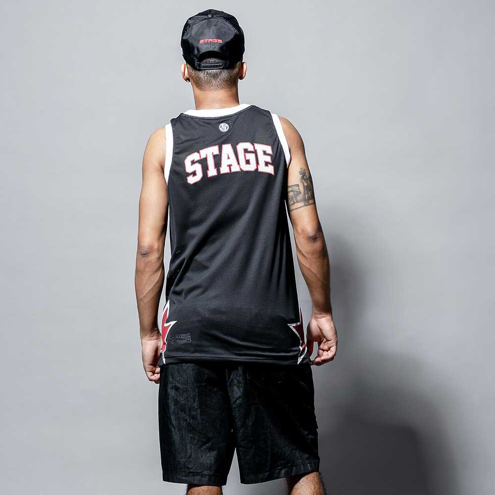 STAGE BB BASKETBALL JERSEY 黑色 單色 1