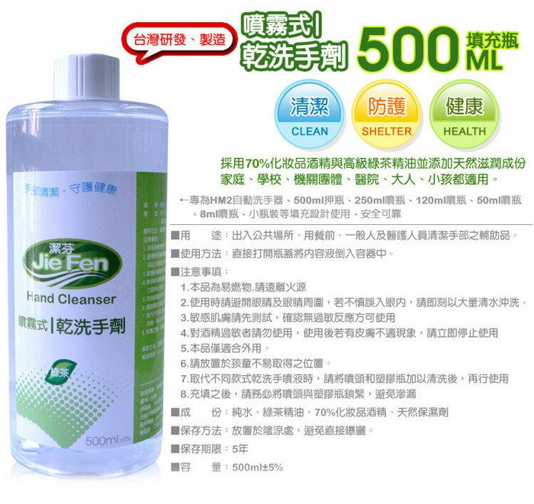 『121婦嬰用品館』潔芬 噴霧式乾洗手劑-500ml填充瓶 2