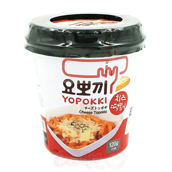 韓國 YOPOKKI 芝士香辣炒年糕 隨身杯(120g)【庫奇小舖】