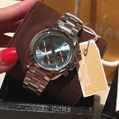 美國Outlet 正品代購 Michael Kors MK 簡約淺藍三環計時手錶腕錶 MK6098 5