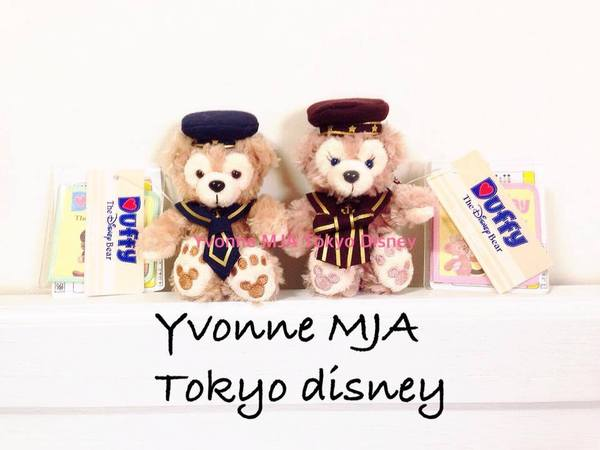 *Yvonne MJA日本代購*東京迪士尼海洋樂園限定正品Duffy達菲熊雪莉玫2014絕版航海坐姿吊飾