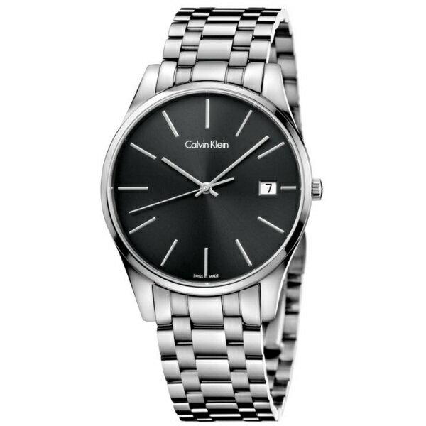 CK 時光系列(K4N21141)經典簡約時尚腕錶/黑面40mm
