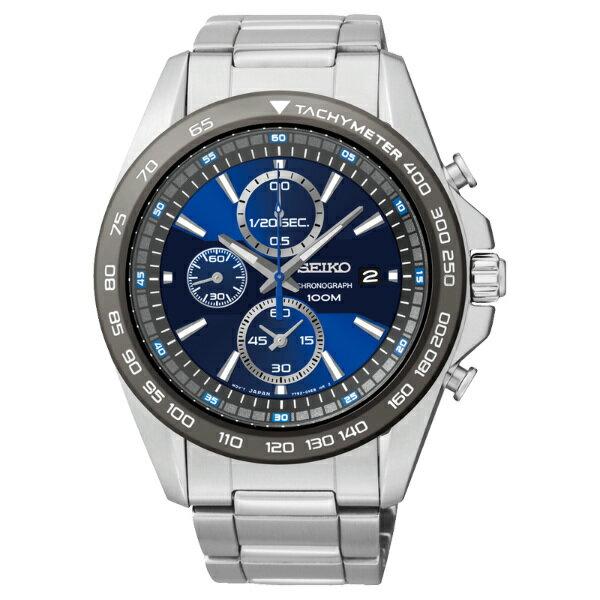 Seiko Spirit 7T92~0RK0B^(SNDF73P1^)都會湛藍計時腕錶 藍