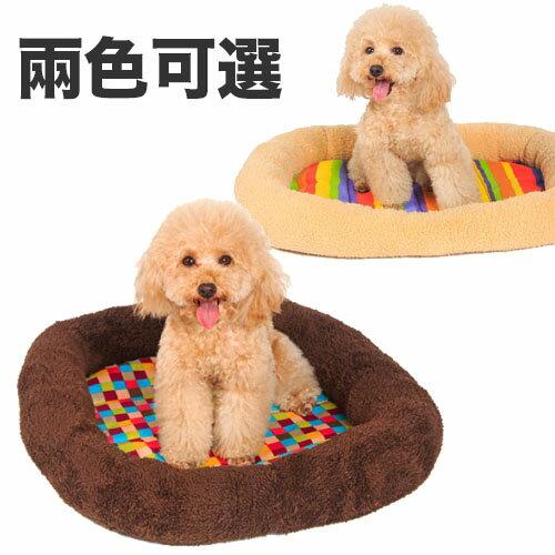 【Co.S】彩虹條紋/方塊止滑方形床墊 S-L號