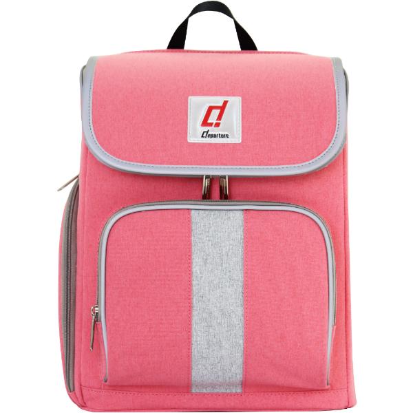 「超輕量兒童書包」安全反光邊條-後背包×粉紅色 :: departure 旅行趣∕ BP084 0