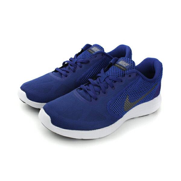 NIKE REVOLUTION 3 跑鞋 男鞋 藍色 no336