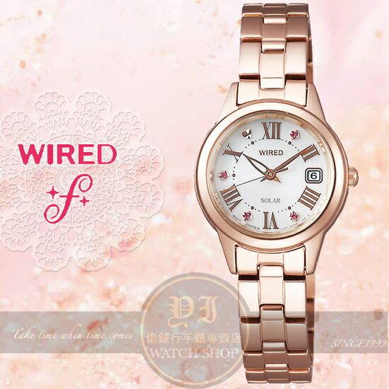 WIRED f 原創Solar浪漫情懷太陽能腕錶V137~0CF0K AGED709J 貨