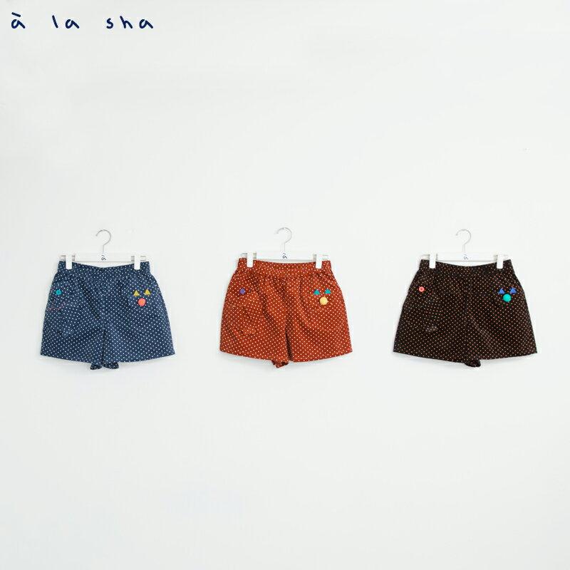 a la sha enco 魚口袋點點短褲 3