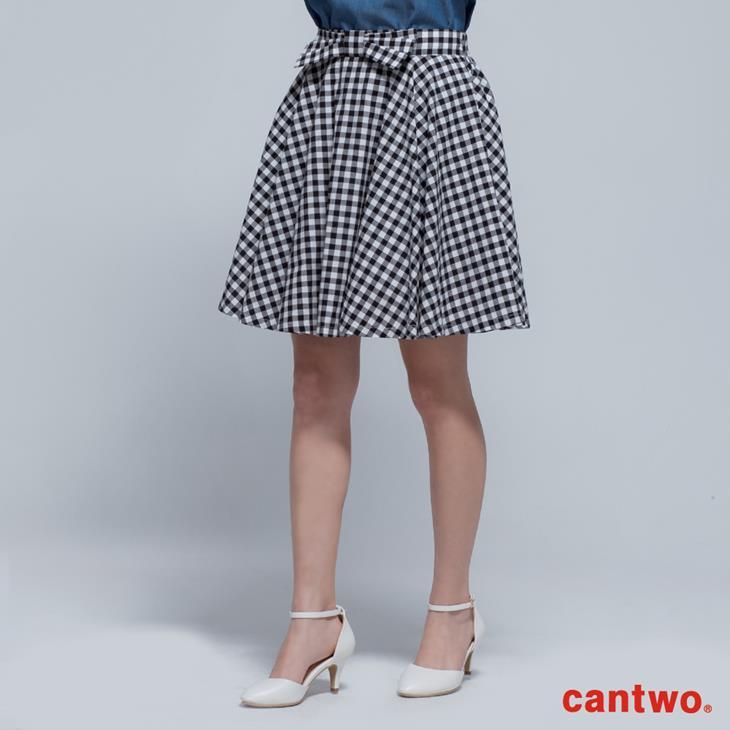 cantwo傘狀雙色格紋短裙(共二色) 1