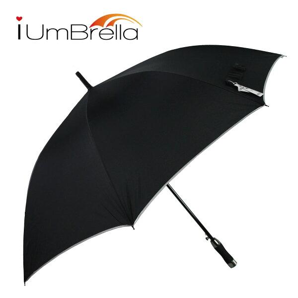 【iumbrella】Model款簡約素布高爾夫傘-經典黑
