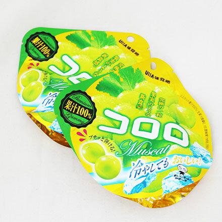 [敵富朗超市]UHA味覺糖果實食感青葡萄軟糖(40g) - 限時優惠好康折扣