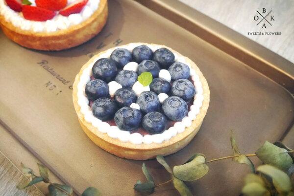【BoKa】♡藍莓起司塔。4吋