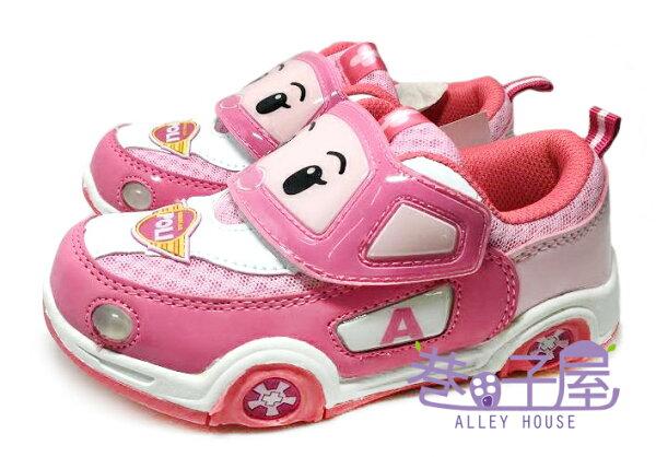 【巷子屋】POLI 波力 女童汽車造型電燈運動休閒鞋 [41903] 粉 超值價$198
