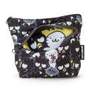 【真愛日本】15082200042萬用包-XO斜拉鏈滿版 三麗鷗家族 酷企鵝 萬用包 收納包 正品