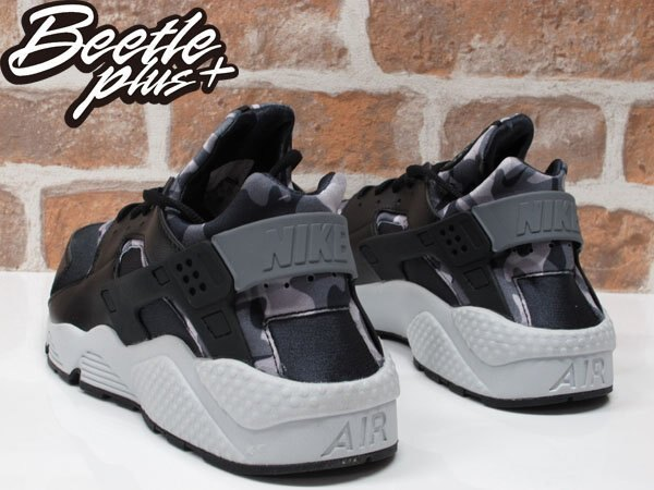 BEETLE WMNS NIKE AIR HUARACHE RUN PRINT 黑白 迷彩 武士鞋 725076-003 US12 2