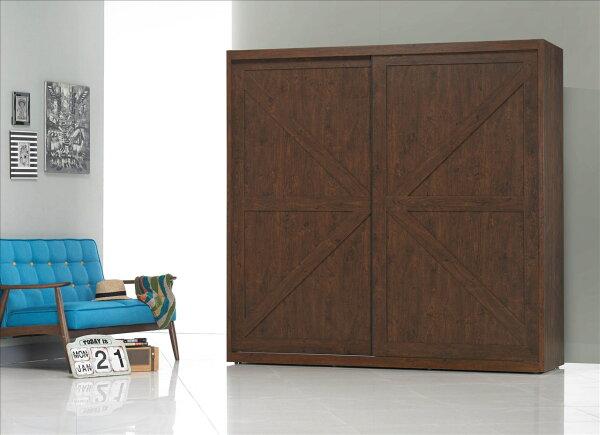 【石川家居】OU-632-2 胡桃喬巴7*7尺衣櫥 (不含其他商品) 需搭配車趟