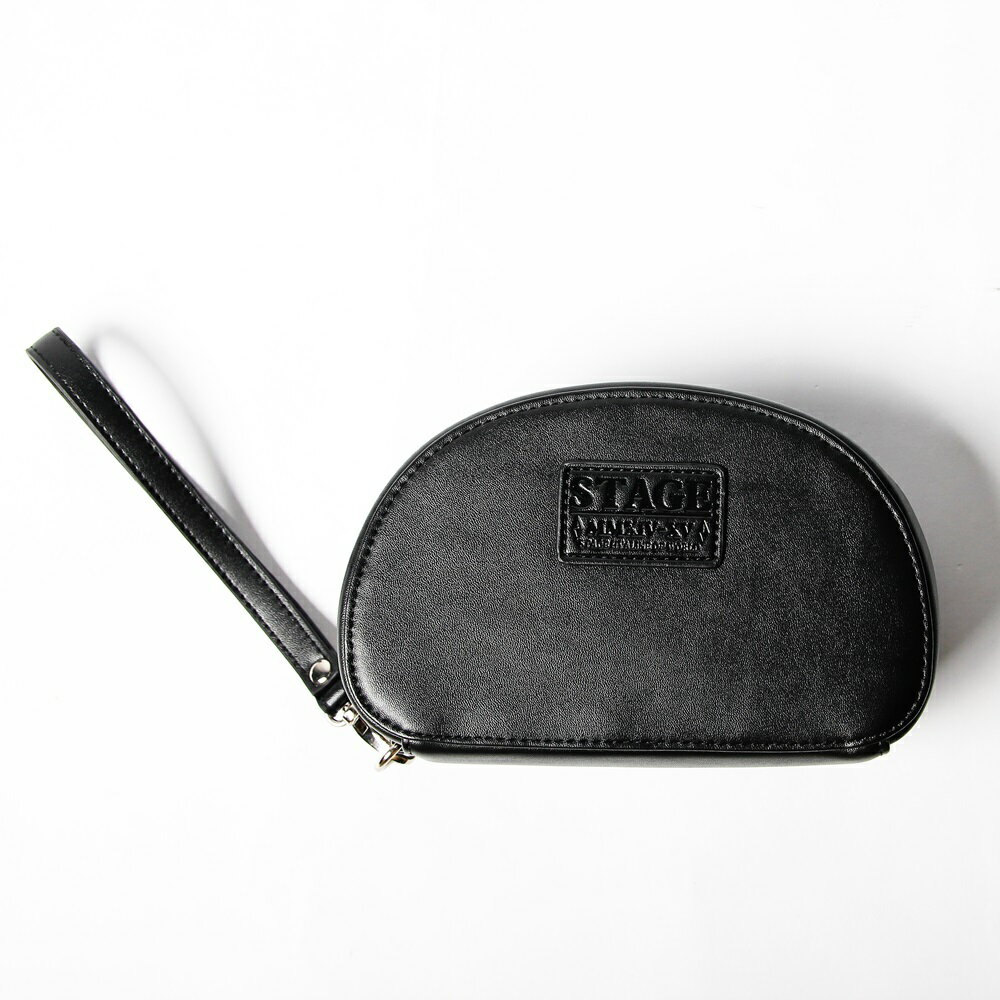STAGE  GORGEOUS LEATHER COSMETIC BAG  黑/銀 兩色 1