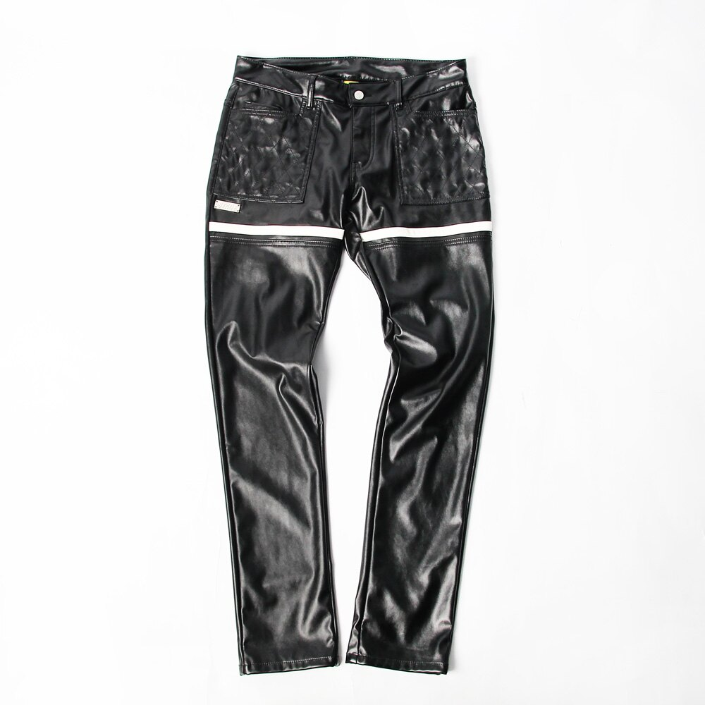 STAGE GOTHIC LEATHER PANTS 黑色 0