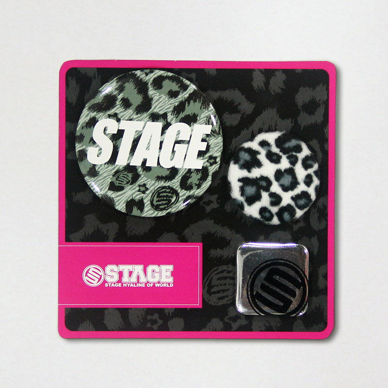 STAGE LEOPARD PIN SET  灰/咖啡/桃紅 1
