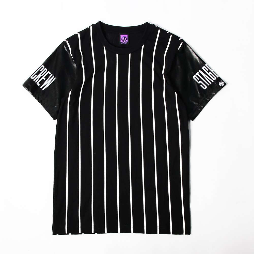 STAGE  PU-SLEEVE TEE  黑色 0