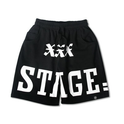 STAGE ROMAN NUMERALS SHORTS  黑色 0