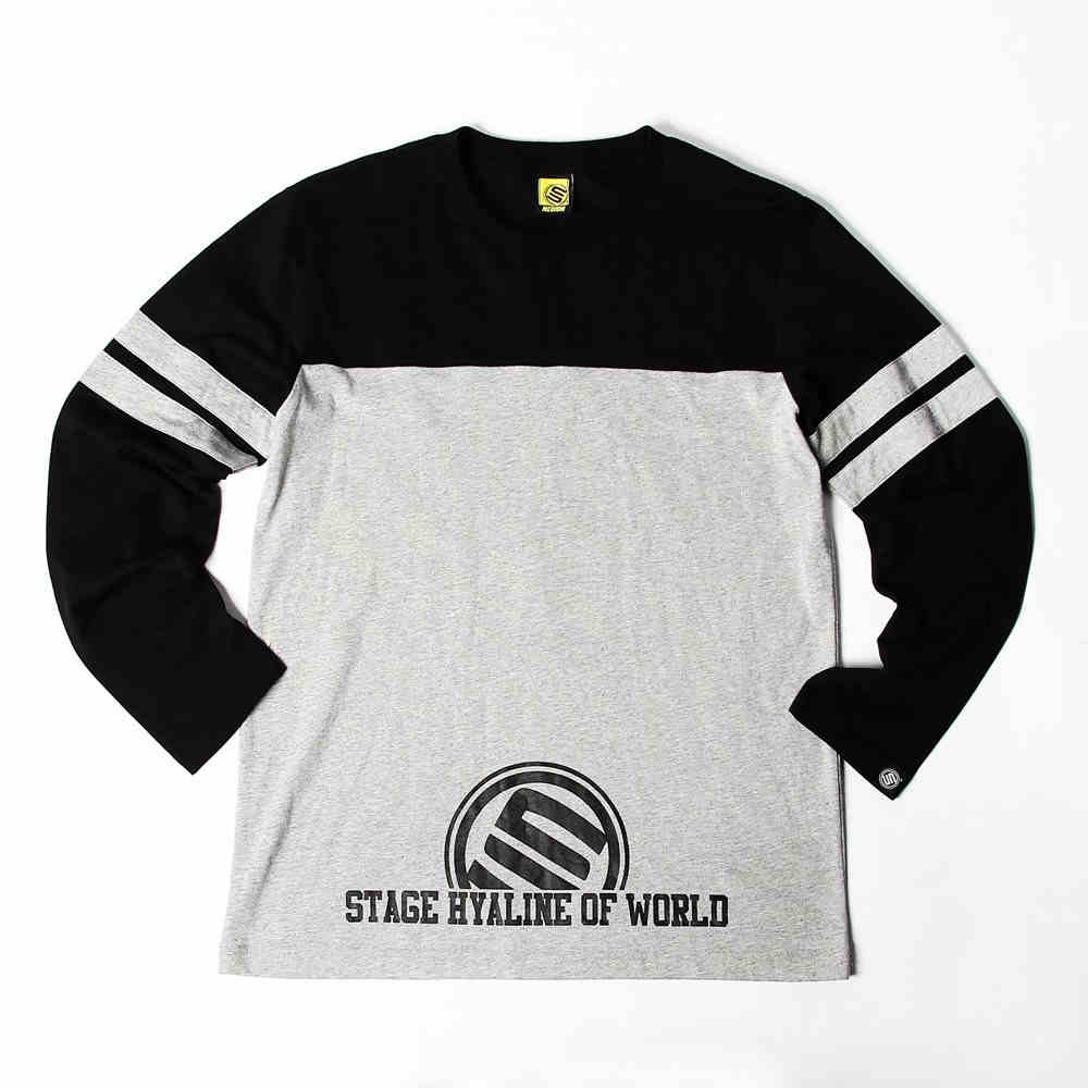 STAGE LOGO NUMERAL LONG SLEEVES  灰 單色 1