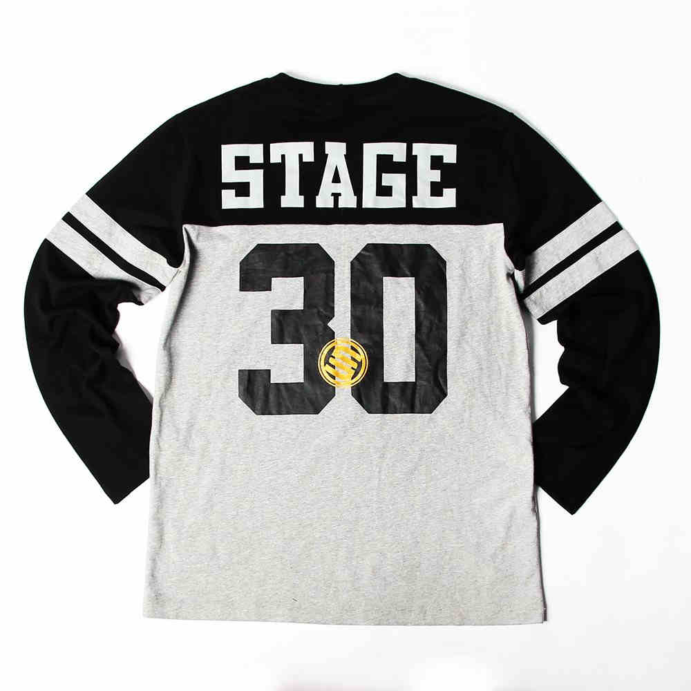 STAGE LOGO NUMERAL LONG SLEEVES  灰 單色 0