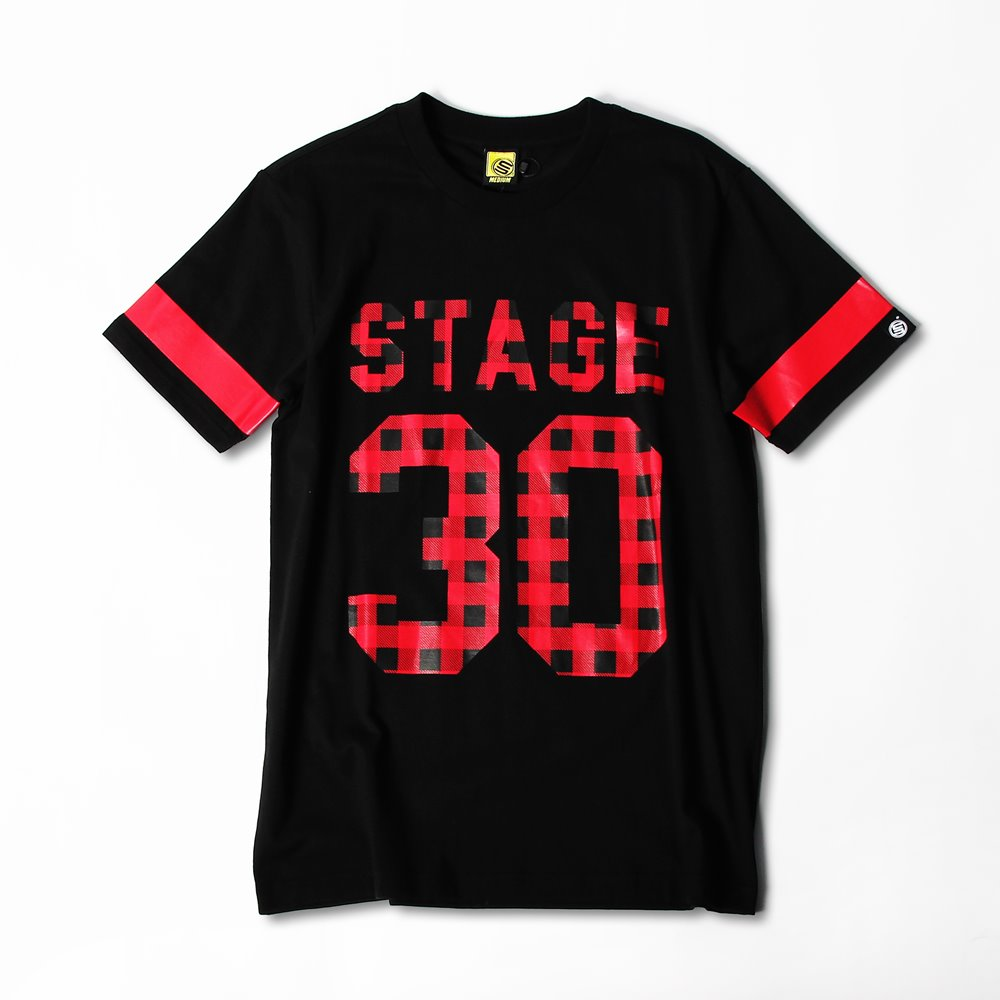 STAGE PLAID TEE  黑色 0