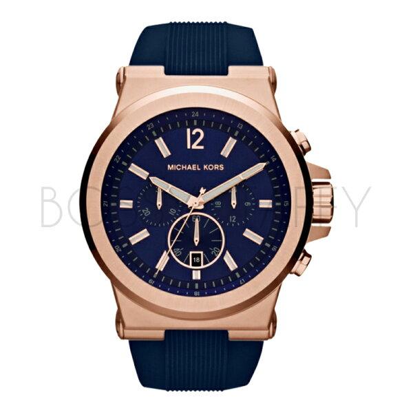 MK8295 MICHAEL KORS 藍色錶盤經典計時手錶 男錶