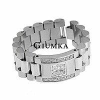 【GIUMKA】類名牌錶帶鋼戒指 316L鋼戒指鋯石 白鑽款 單個價格
