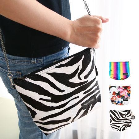 泰國設計師品牌 Cheetah Ciety斜肩包 鍊條側背 迷你手拿包 手機包 萬用包【N100048】