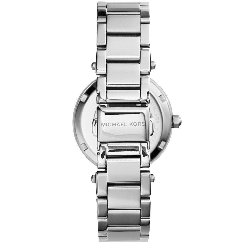 美國Outlet正品代購 MichaelKors MK  銀色陶瓷 水鑽 三環 手錶 腕錶 MK5615 3