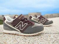 New Balance 美國慢跑鞋/跑步鞋推薦Shoestw【KV996GYY】NEW BALANCE 996 童鞋 運動鞋 中童 灰咖啡 格紋