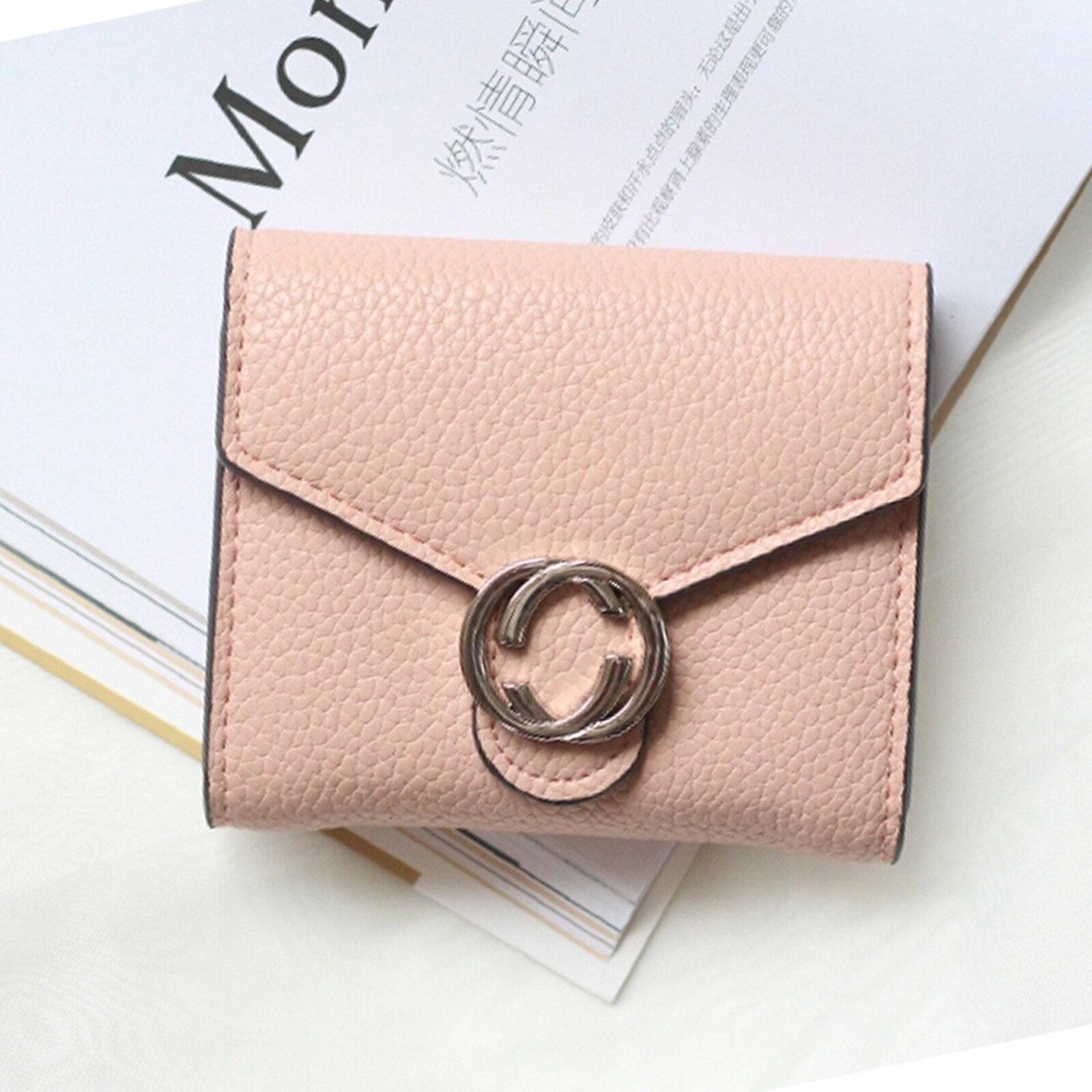皮夾 錢包 名品質感金屬雙C短夾【O3220】☆雙兒網☆ 4