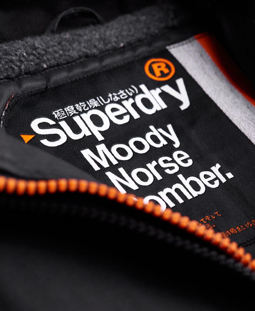[男款]英國代購 極度乾燥 Superdry Moody Pilot短夾克 男士風衣戶外休閒 外套夾克防水防風保暖 黑色 4