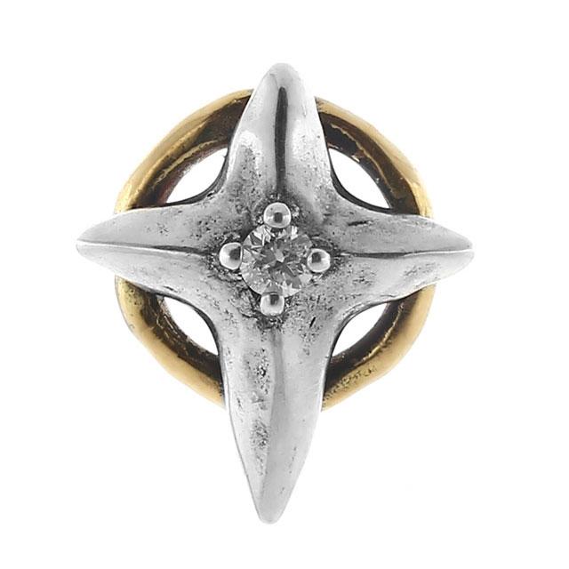 【海外訂購】【Bloody Mary】Cristallum 結晶十字鑽石18K金耳環(BME1363-sk-D  0832640000) 1