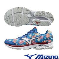 慢跑_路跑周邊商品推薦到J1GC170802(楓葉X銀白) FUJI 富士馬拉松紀念鞋款 WAVE RIDER 20  男慢跑鞋Q【美津濃MIZUNO】