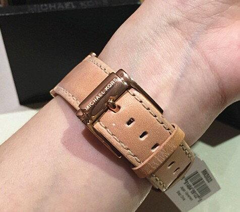 美國Outlet正品代購 MichaelKors MK 真皮水鑽棕色 三環 手錶 腕錶 MK5633 6