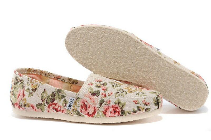 【TOMS】茉莉花帆布平底休閒鞋  Shabby Chic Women's Classic 6