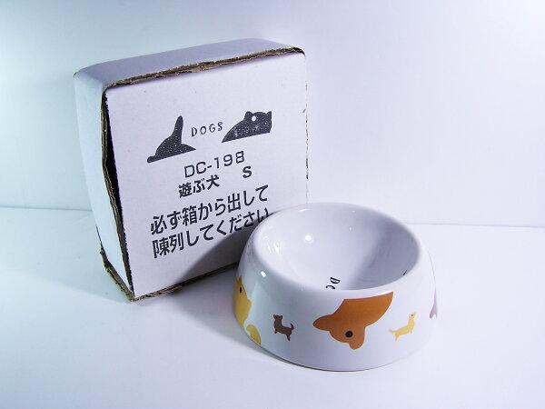 ♥  WaWa ♥日本Marukan陶瓷狗食盆-頑皮狗S