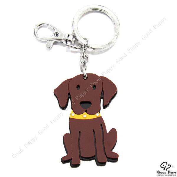 加拿大進口狗狗寵物鑰匙圈-拉不拉多92656 Chocolate Labrador 吊飾/鑰匙扣/鑰匙圈/小禮物/贈品