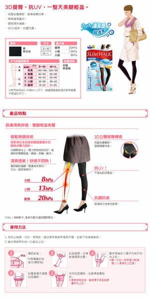 【SLIM WALK】 完美比例 機能美腿襪-內搭褲型 S-M/M-L 1