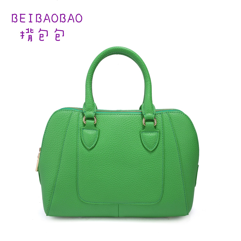 【BEIBAOBAO】馬卡龍繽紛真皮淑女包(薄荷綠 共七色) 0