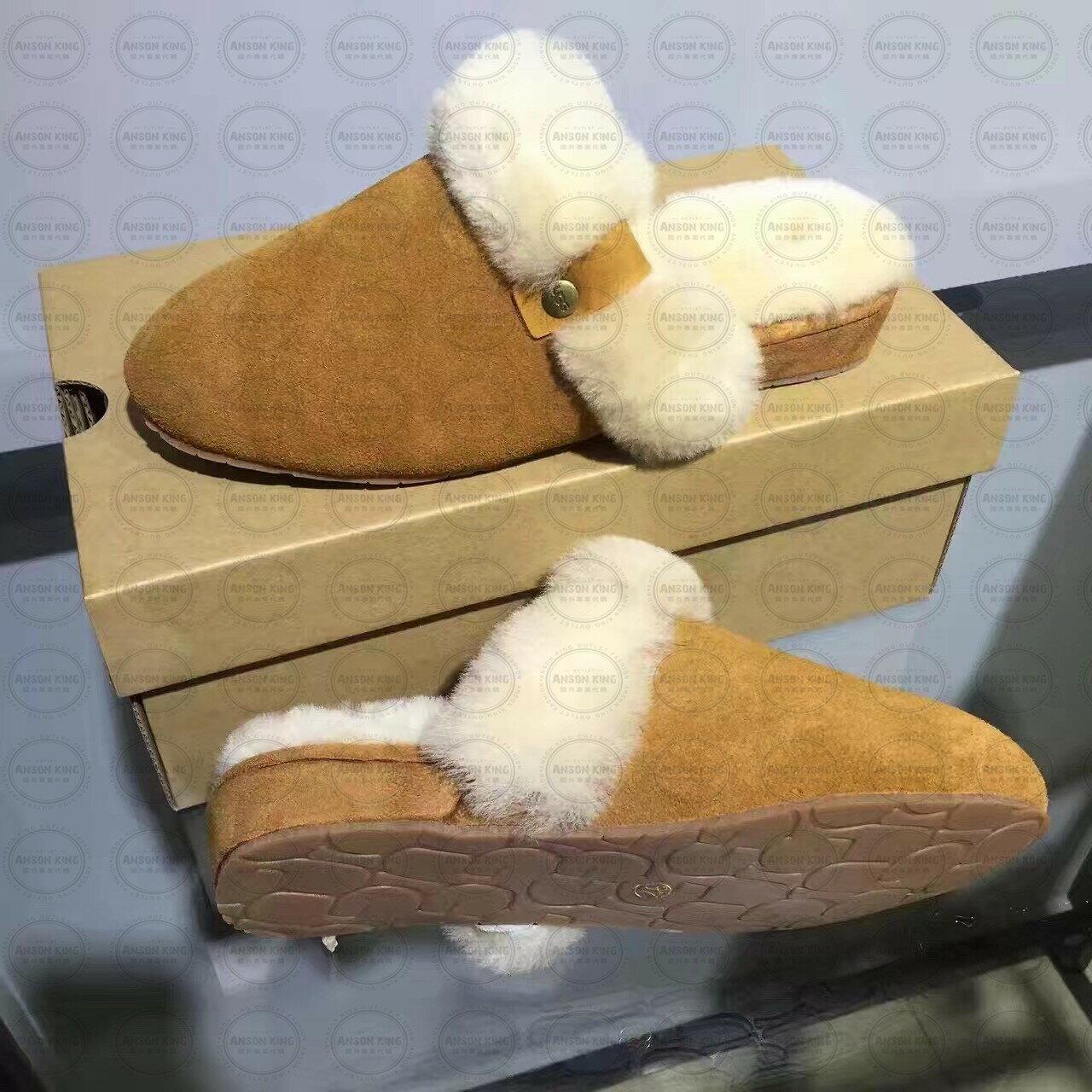 OUTLET代購 UGG 毛毛居家拖鞋 懶人鞋 真皮羊皮毛 雪靴 長靴 短靴 駝色 2